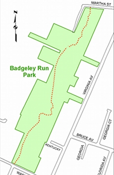 Badgley Run Park map